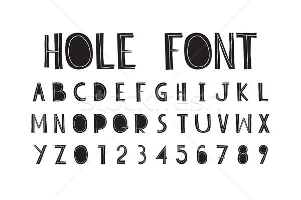 Dikkatsiz dekoratif harfler yazılı el orijinal Stok fotoğraf © Vanzyst