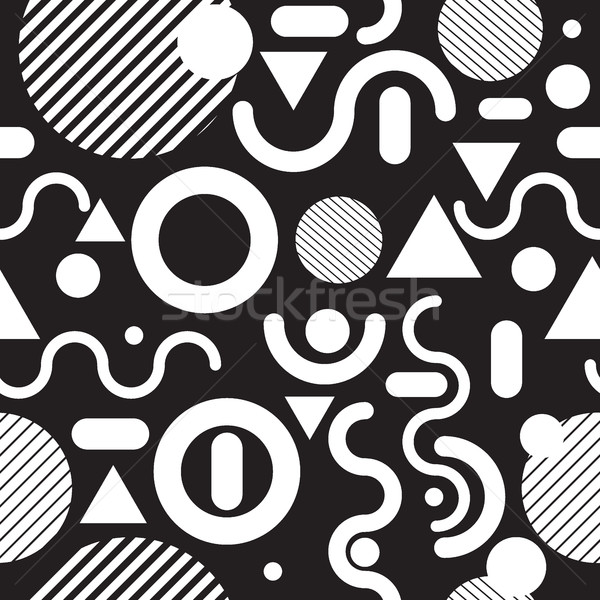 Seamless pattern black and white Stock photo © Vanzyst