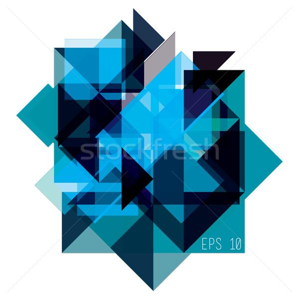 Abstract meetkundig Blauw geïsoleerd textuur licht Stockfoto © Vanzyst