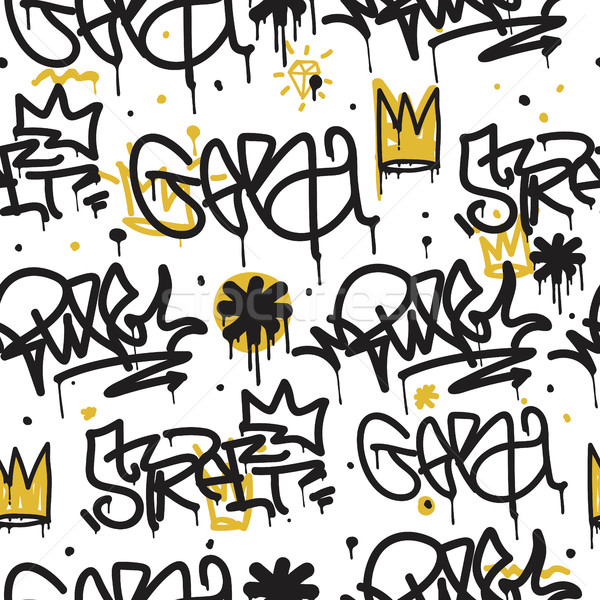 Graffiti seamless pattern Stock photo © Vanzyst