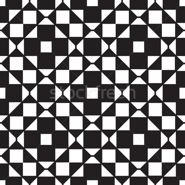 Soyut geometrik kare hatları simetri Stok fotoğraf © Vanzyst