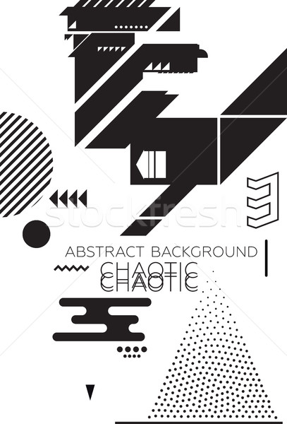 Caótico abstrato moderno universal simples geométrico Foto stock © Vanzyst