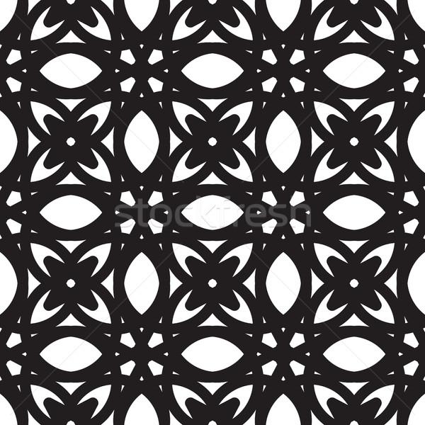 抽象的な シームレス 幾何学模様 モノクロ 白 ストックフォト © Vanzyst
