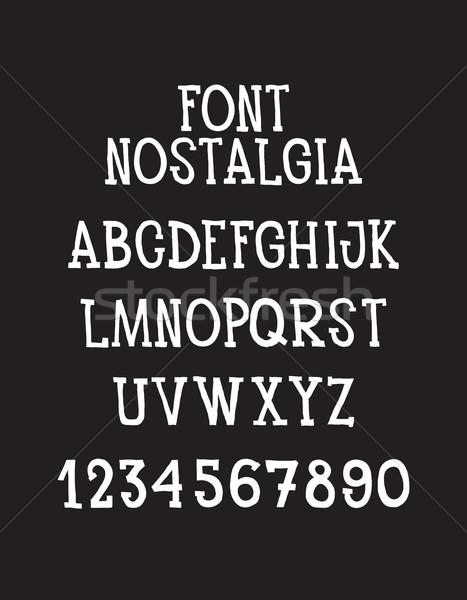 Font  Stock photo © Vanzyst