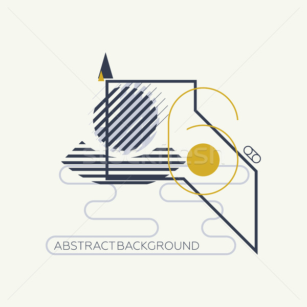 Geometric abstract design elements Stock photo © Vanzyst