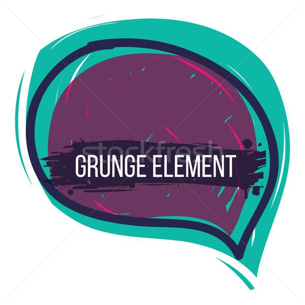 Grunge Bańka mowy streszczenie kolorowy Zdjęcia stock © Vanzyst