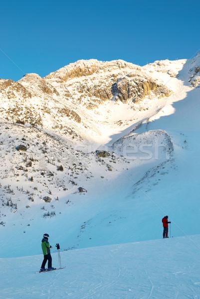 Stock photo: Skier on the mountain slope