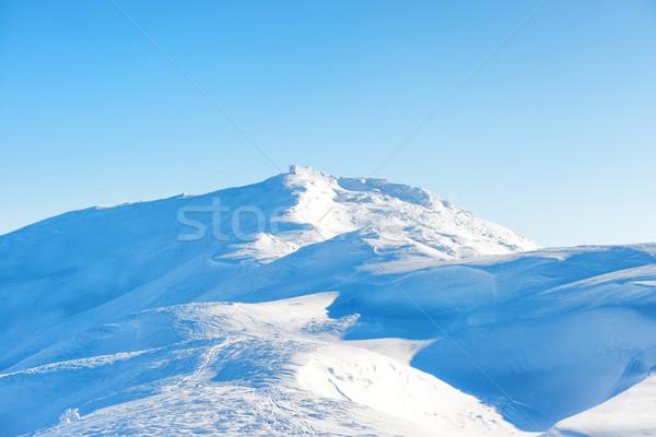 Tél tájkép öreg kastély felső terjedelem Stock fotó © vapi