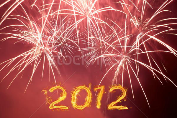Happy new 2012 year. Stock photo © vapi