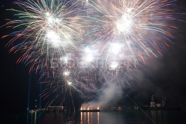 Beautiful salute and fireworks Stock photo © vapi