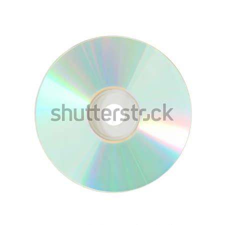 Disco compacto isolado branco música luz fundo Foto stock © vapi