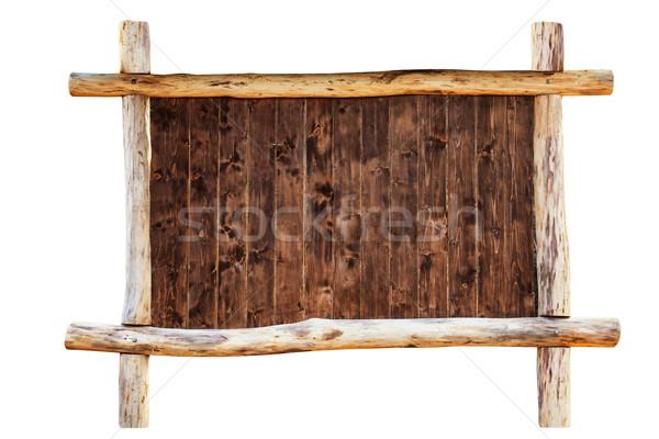 The frame made from oak logs Stock photo © vapi
