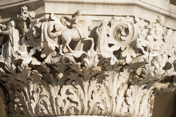 Columna palacio cuadrados Venecia Italia Foto stock © vapi