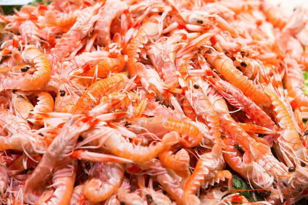 Kırmızı taze pazar deniz ürünleri doku Stok fotoğraf © vapi