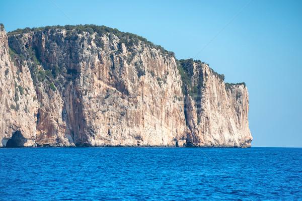 Wybrzeża niebieski morze Śródziemne morza Włochy widoku Zdjęcia stock © vapi