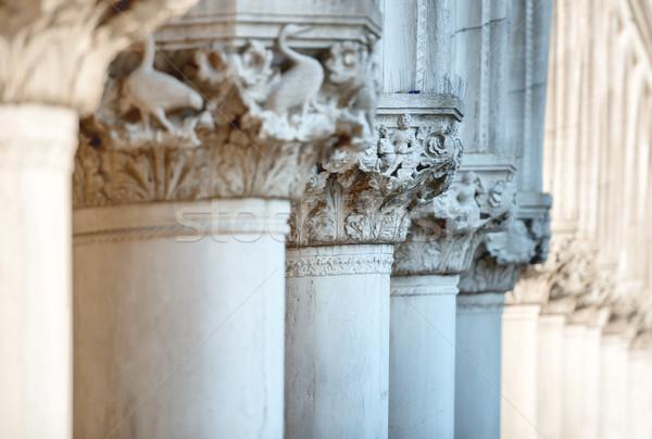 Kolom paleis vierkante Venetië Italië Stockfoto © vapi