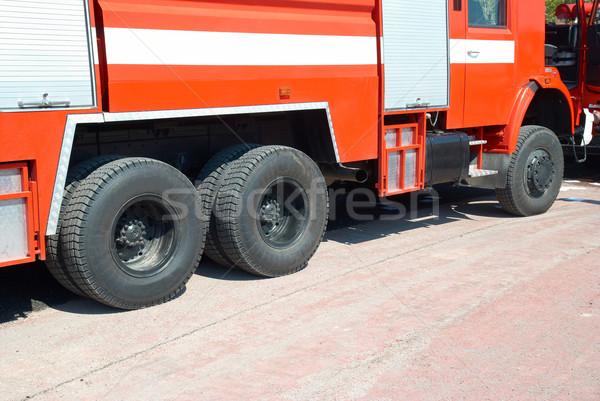 Brandspuit Rood permanente weg hemel brand Stockfoto © vapi