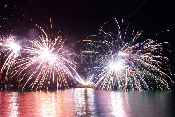 Beautiful fireworks Stock photo © vapi
