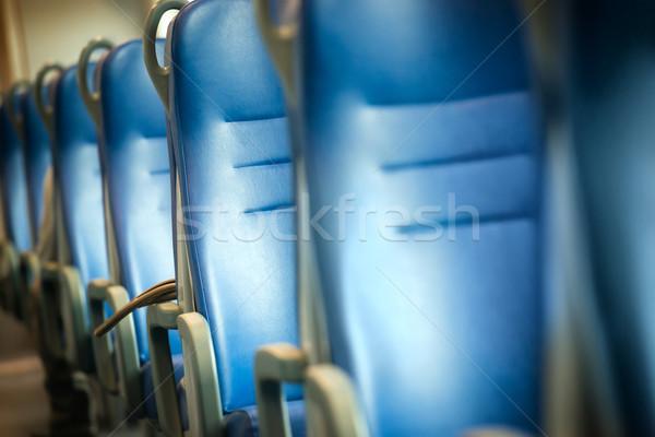 Empty blue seats Stock photo © vapi