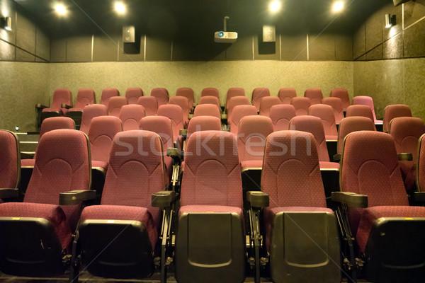 Lege film theater klein bioscoop projector Stockfoto © vapi