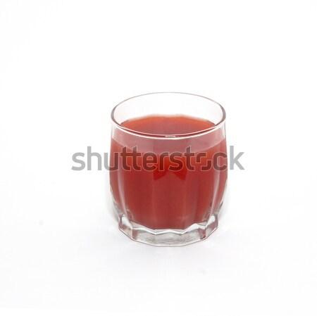 Juice in glass isolated on white. Stock photo © vapi