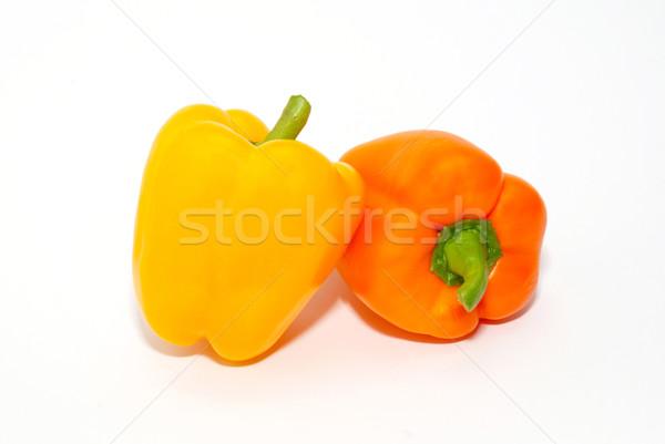 Laranja amarelo páprica isolado branco alimentação Foto stock © vapi
