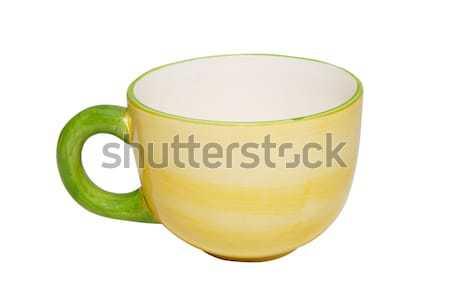 Vuota Cina tazza da tè isolato bianco luce Foto d'archivio © vapi