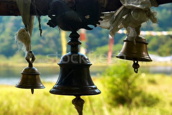 Velho bronze indiano templo brilhante verde Foto stock © vapi
