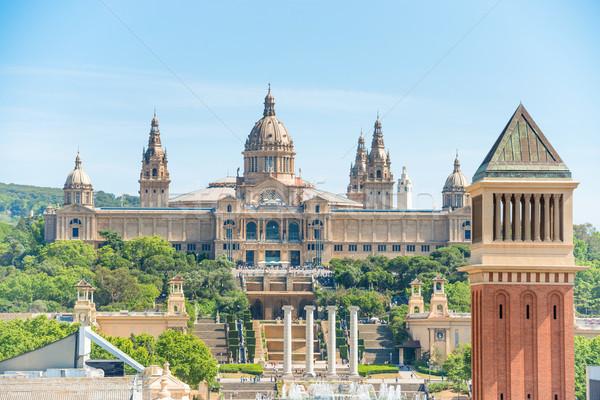 Museum of National Art in Barcelona Stock photo © vapi