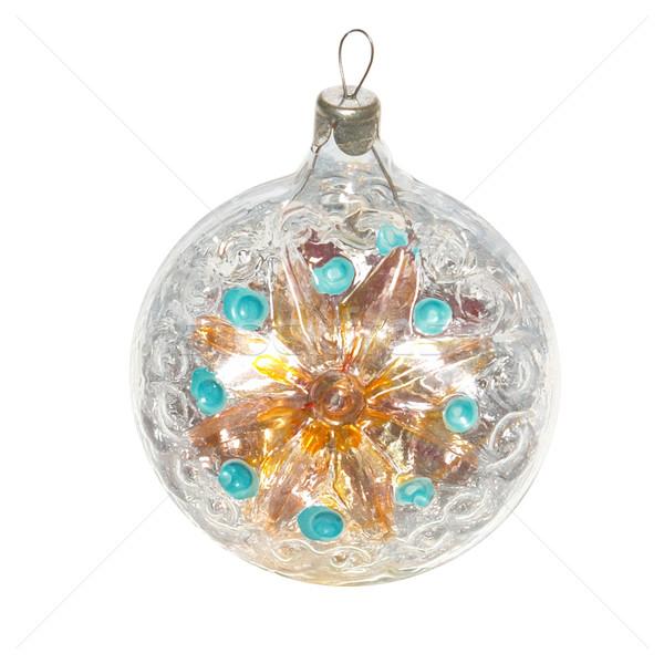 Weihnachten Spielerei isoliert weiß Licht Glas Stock foto © vapi