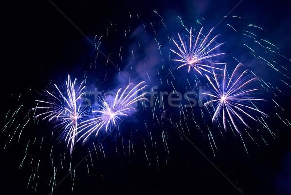 Foto d'archivio: Fuochi · d'artificio · nero · cielo · abstract · luce · sfondo