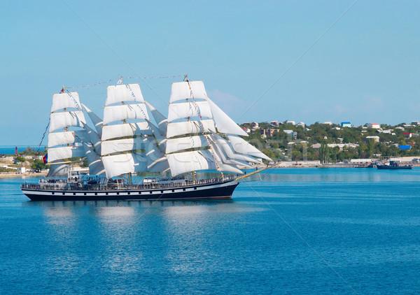 帆船 太陽 スポーツ 夏 青 旅行 ストックフォト © vapi