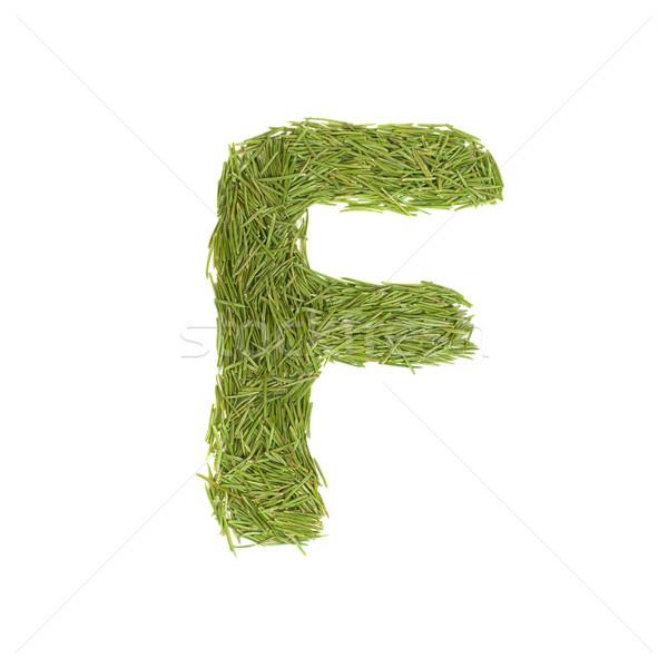 Green alphabet, letter F Stock photo © vapi