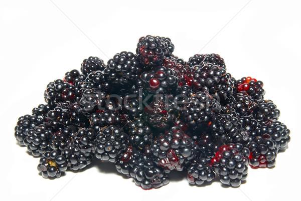 Pile of fresh blackberries isolated on white. Stock photo © vapi