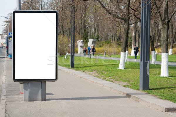 Vide Billboard rue de la ville vert blanche isolé Photo stock © vapi