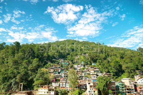 домах города зеленый холме Индия дома Сток-фото © vapi