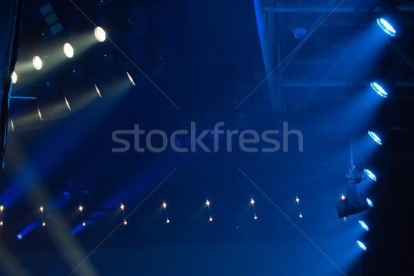 Сток-фото: синий · дискотеку · фары · клуба · этап · музыку