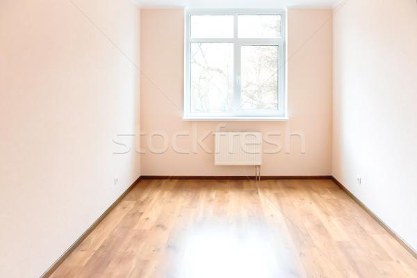 üres szoba ablak fapadló fény nagy fehér Stock fotó © vapi