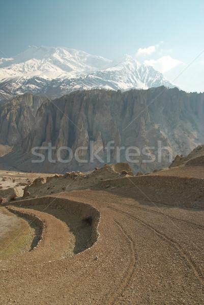 Domaine montagnes paysage tibet Népal route Photo stock © vapi