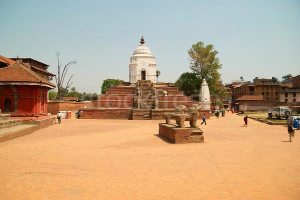 świątyni miasta Nepal starych domu budynku Zdjęcia stock © vapi