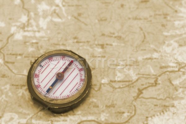 Pusula harita kâğıt deniz dünya arka plan Stok fotoğraf © vapi