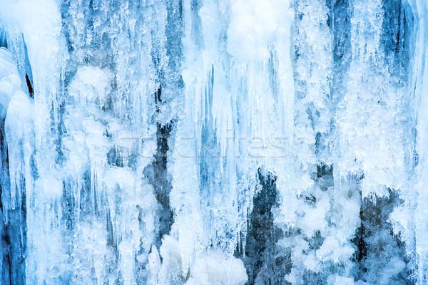 凍結 氷 滝 青 風景 雪 ストックフォト © vapi