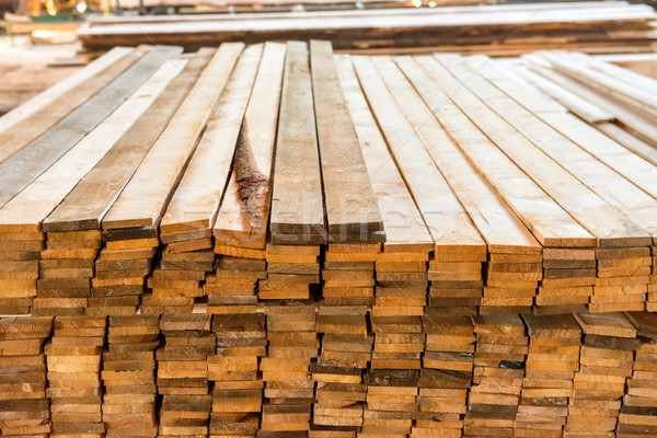 Planks in the timber factory Stock photo © vapi