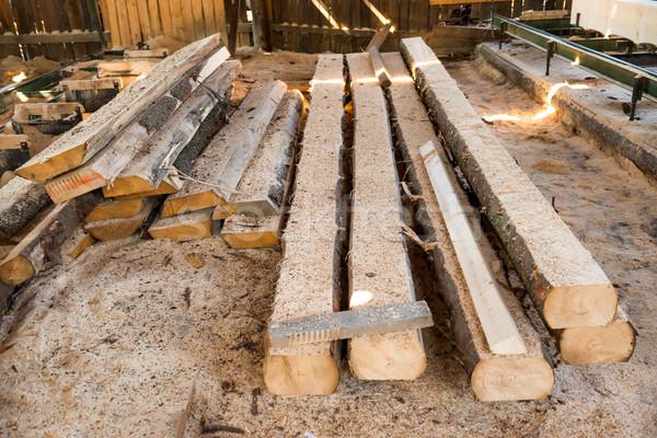 Kereste fabrika ahşap ahşap Stok fotoğraf © vapi