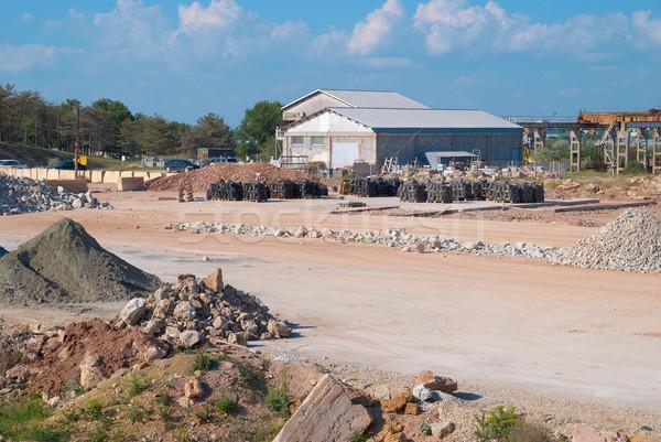 Piedra arena industria fábrica edificio construcción Foto stock © vapi