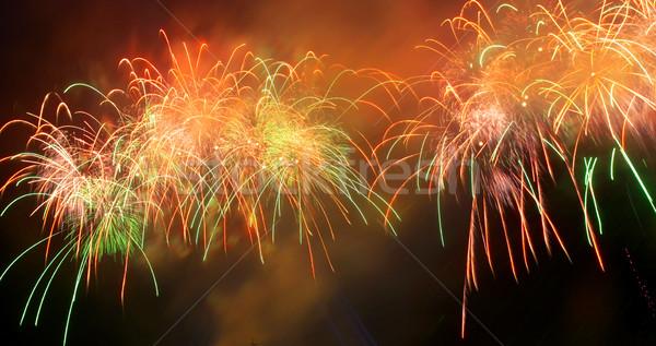 Panorama of salute, fireworks. Stock photo © vapi