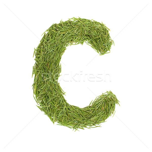 Green alphabet, letter C Stock photo © vapi