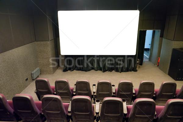 Boş sahne küçük film tiyatro beyaz Stok fotoğraf © vapi