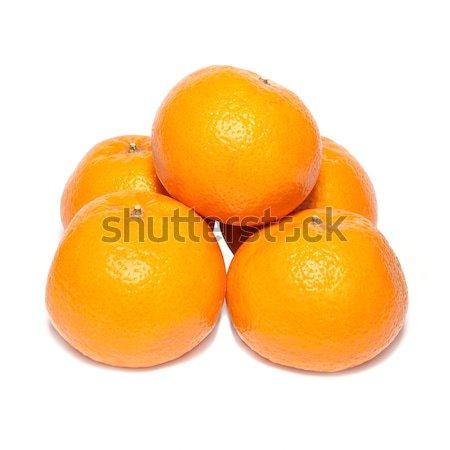 Grupo laranja isolado branco fundo pele Foto stock © vapi