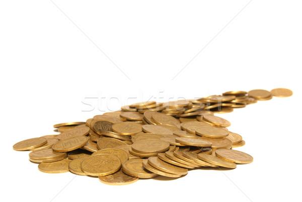 дороги монетами изолированный белый бизнеса Сток-фото © vapi